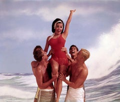 Annette Funicello with the Boys