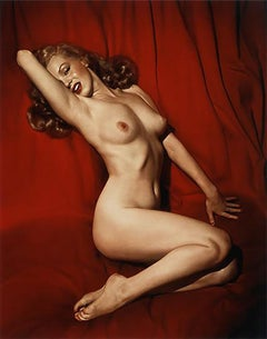 "Marilyn Monroe on ""Red Velvet"" Playboy Legacy Collection - Signed by Hugh Hefner"