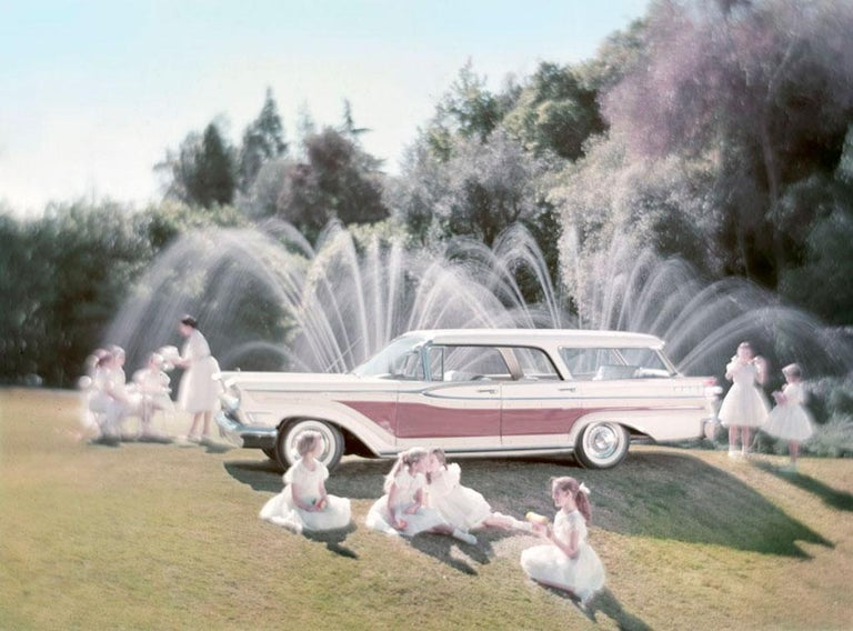 Tom Kelley Color Photograph - Station Wagon and Ballerinas