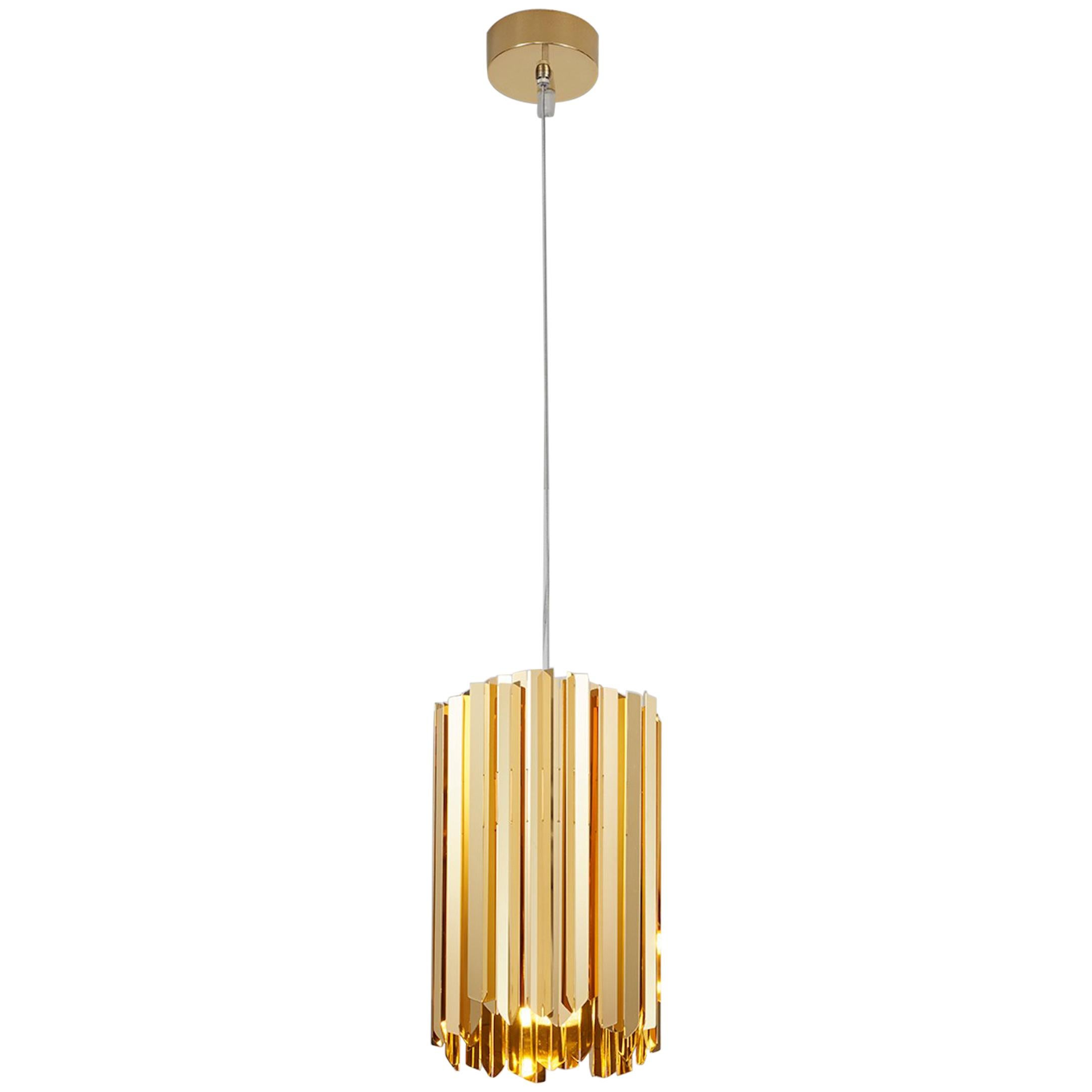Facet Pendant by Tom Kirk in Polished Gold
