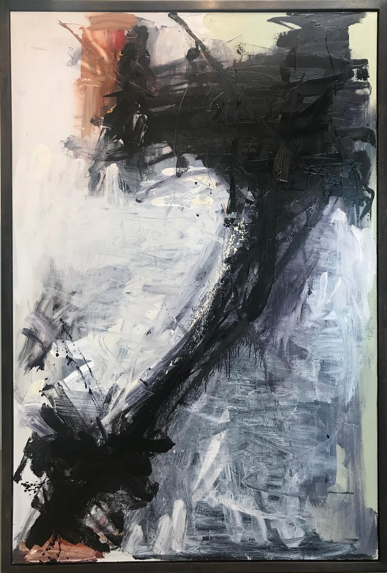 Tom Lieber Abstract Painting - Black Drop X