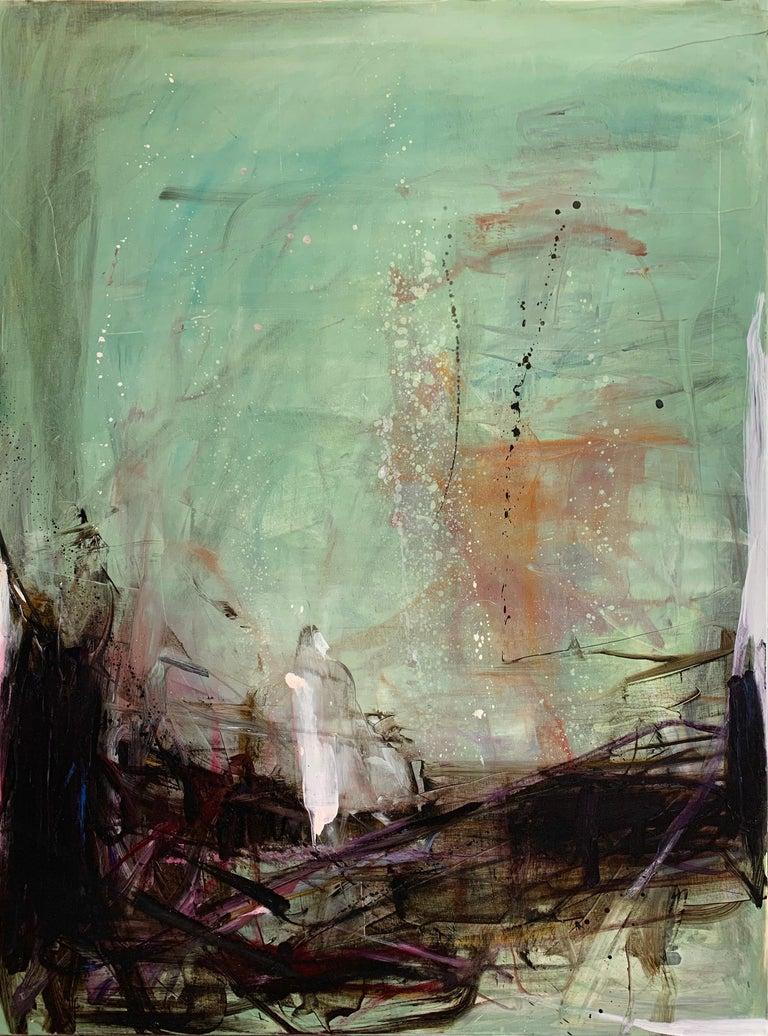 Tom Lieber Abstract Painting - Deep Green