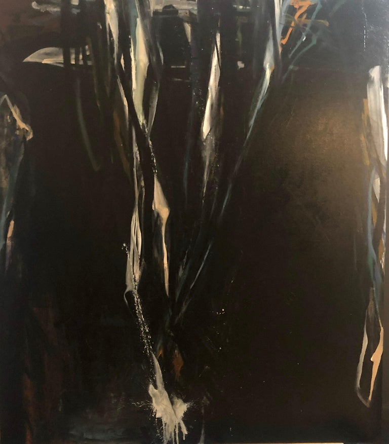 Tom Lieber Abstract Painting - Island Moon