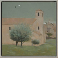 Church and Moon, Lourmarin. Provence