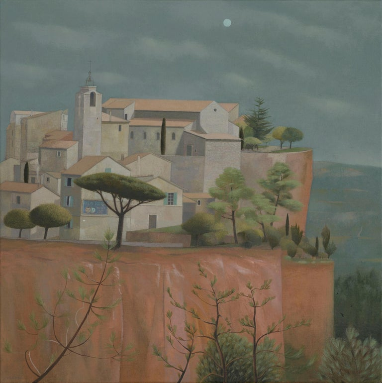 Daylight was leaving Roussillon - Painting by Tom Mabon