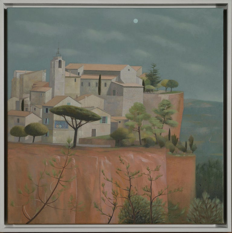 Tom Mabon Landscape Painting - Daylight was leaving Roussillon