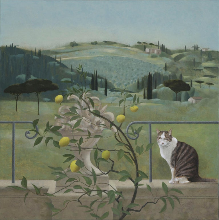 Florentine Gardens - Painting by Tom Mabon