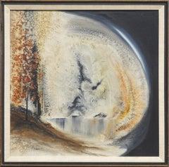 Autumn Forest Wave Abstract by Tom Marlatt