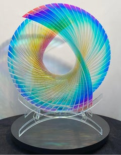'Tear for Henry Starfire Dichroic Sunburst' , Fused, Cut and Polished Glass