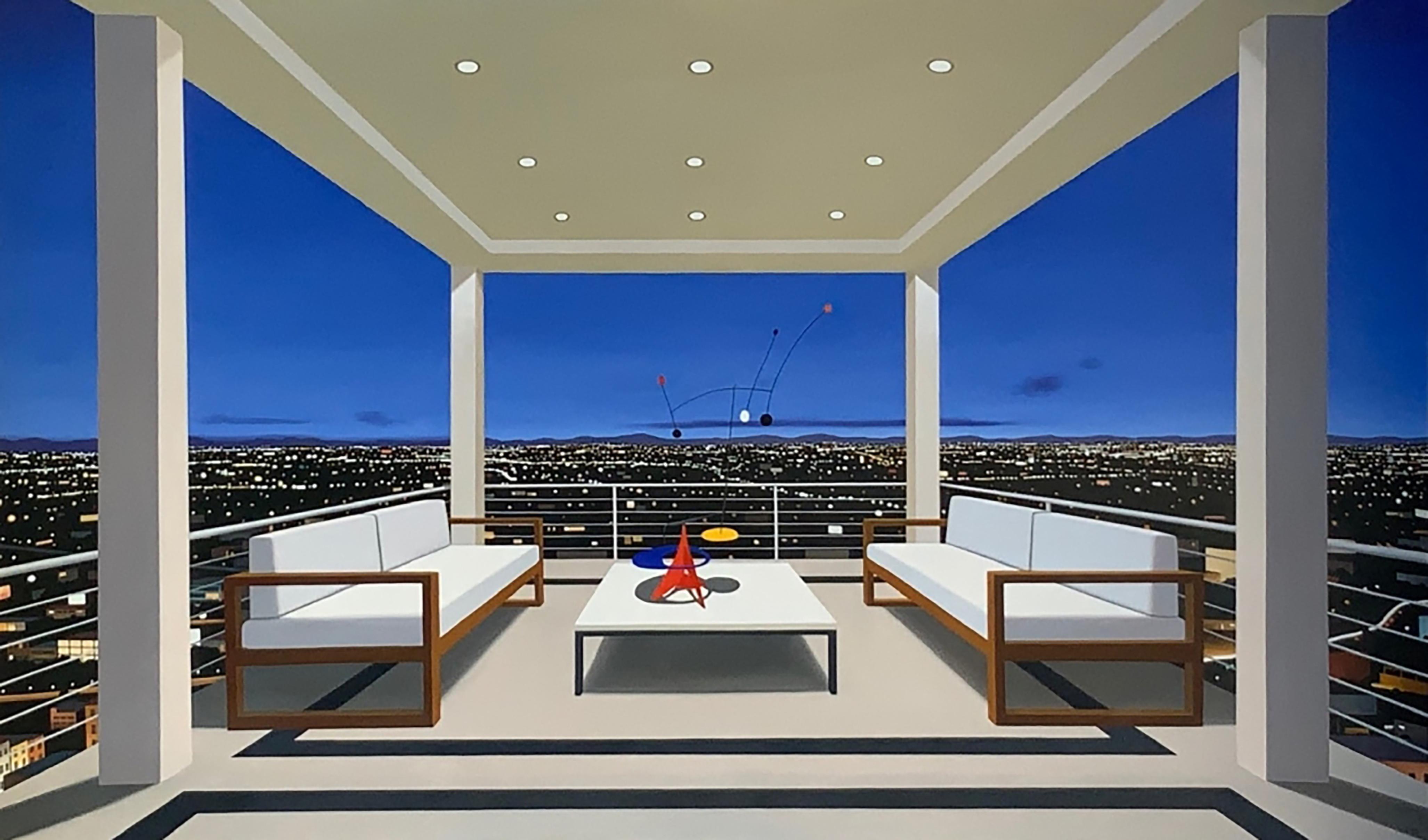 "Tom McKinley ""Box Seat"" photo-realist oil painting"