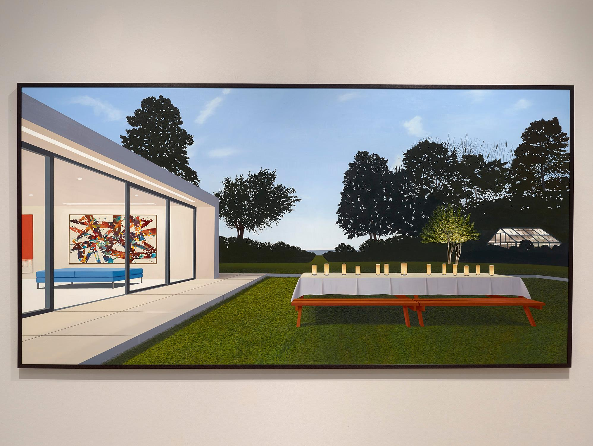 """Tom McKinley """"Spring Supper"""" photorealist, landscape, oil painting"""