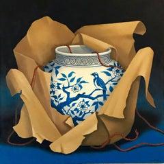 BLUE BIRD, Painting, Acrylic on Canvas
