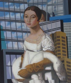 Caroline In The City, Painting, Acrylic on Canvas