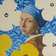 FLOWER GIRL, Painting, Acrylic on Canvas