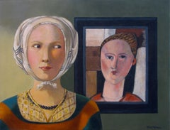 Two Women, Painting, Acrylic on Canvas