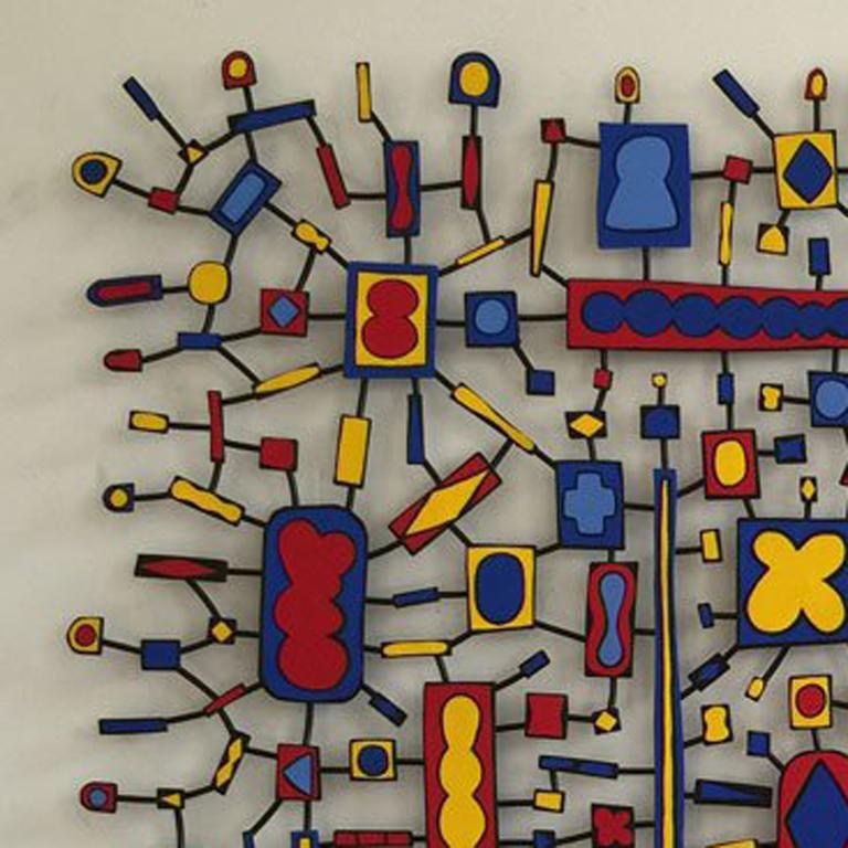 East Orange Boogie Woogie - Abstract Geometric Sculpture by Tom Nussbaum