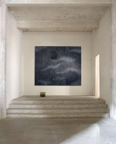MOON POOL - serene hand carved wall mounted screen depicting moonlit water