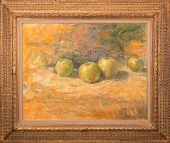 """1940 - A Study of Apples"" Original Acrylic on Canvas by Tom Perkinson, Framed"