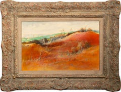 """""""1940 - New Mexico Farmers"""" Orig. Mixed Media on Board by Tom Perkinson, Framed"""