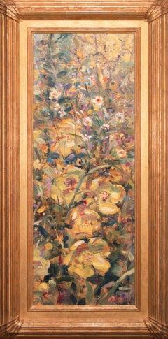 """1940 - Summer Flowers"" Original Acrylic on Canvas by Tom Perkinson, Framed"