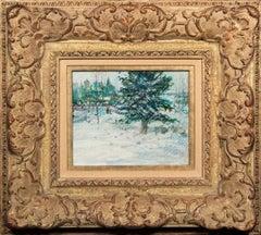 """Christmas 1986"" Original Mixed Media on Board by Tom Perkinson, Framed"