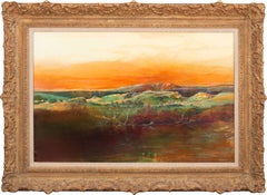 """Reflections in the Pond"" Large Framed Mixed Media on Board by Tom Perkinson"