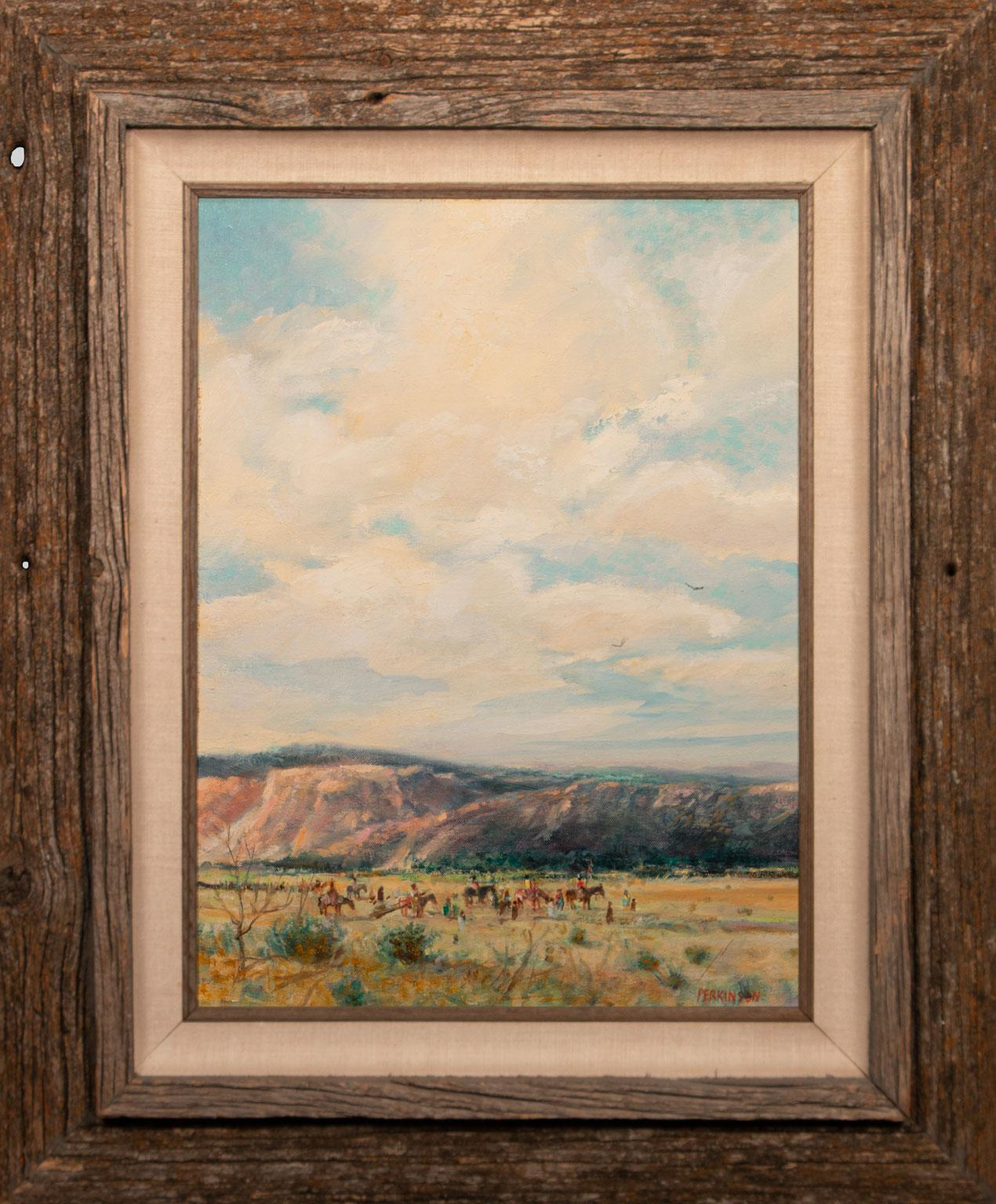 """""""Spring Journey"""" Original Acrylic Painting on Canvas by Tom Perkinson, Framed"""