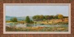 """""""The Shepherd"""" Acrylic on Board Realist Landscape by Tom Perkinson, Framed"""
