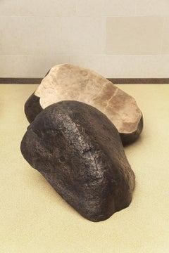 Boulder #2 - The Slide by Tom Price - Rock-like Bronze Sculpture