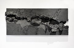 Carbon Rift by Tom Price - Horizontal Wall Sculpture, Dark Color