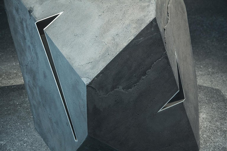 Carbon Void Aluminium by Tom Price - Abstract Geometric Sculpture, black For Sale 1