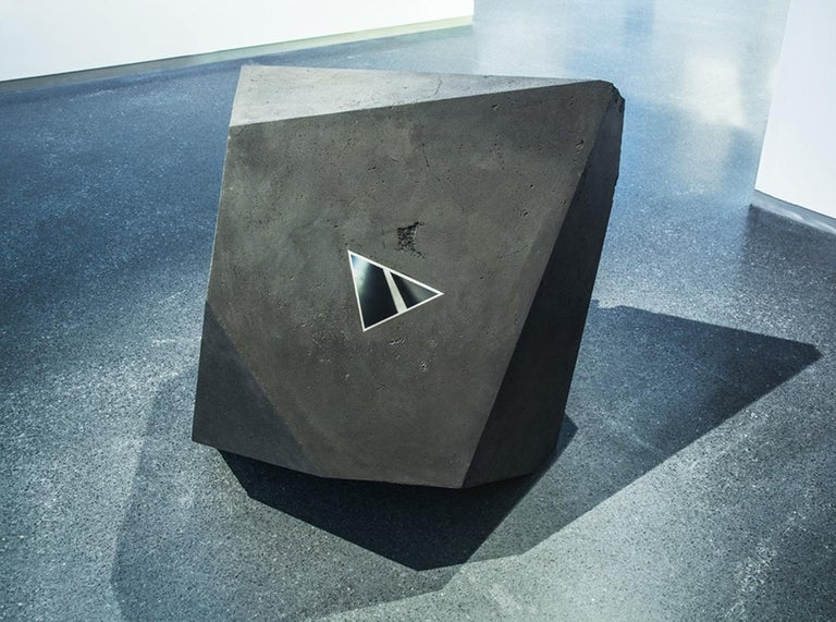 Carbon Void Aluminium by Tom Price - Abstract Geometric Sculpture, black For Sale 3