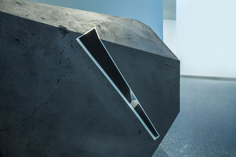 Carbon Void Aluminium by Tom Price - Abstract Geometric Sculpture, black For Sale 4