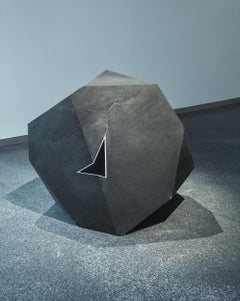 Carbon Void Aluminium by Tom Price - Abstract Geometric Sculpture, black