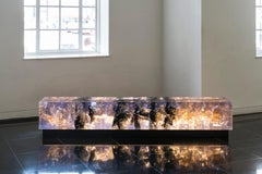 Synthesis bench by Tom Price - resin sculpture and bench