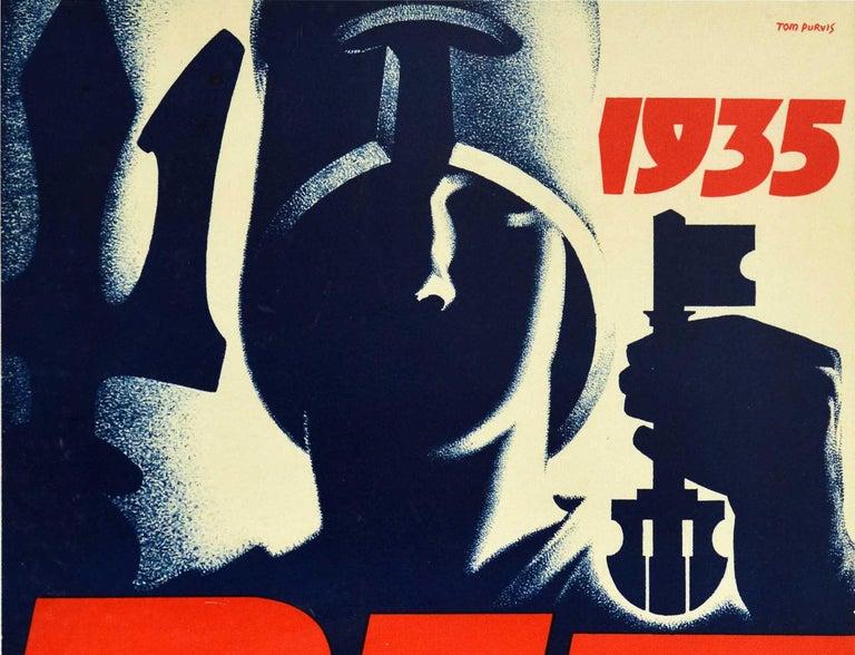 Original Vintage Poster BIF British Industries Fair London 1935 Art Deco Design - Print by Tom Purvis