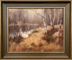 Oil Painting of River Landscape in Ireland Countryside by Modern Irish Artist