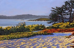 """Carmel Memories"" Central Coast Seascape Scene Oil Painting In Afternoon Light"