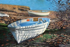 """Manchester By The Sea""  Row Boats on Shore With Rich Shadows"