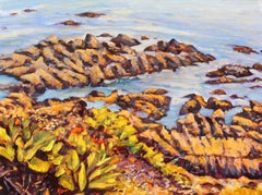 """Point Lobos"" California Coastal Oil Painting With Atmospheric Ocean"