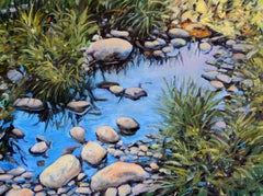 """""""River Reflections"""" Rich Greens and Blues With Brilliant Water Reflections"""