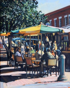 """Saturday In Savannah"" Colorful Market Scene"