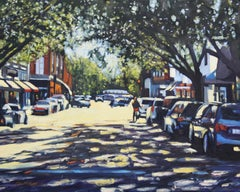 """Savannah Shadows"" Colorful Street Scene"