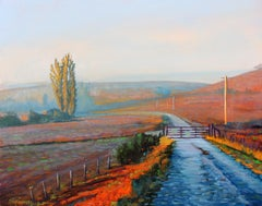 """Sonoma Mist"" Colorful California Scene Oil Painting"