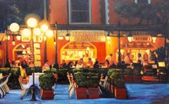 """Warm Night In Portofino""  Oil Painting by Tom Swimm"