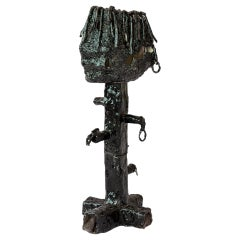 """Tom Volkaert Contemporary Ceramic Black Figure Sculpture """"You Look Amazing"""" 2016"""