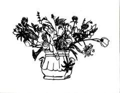 Wild Flower Bouquet Black, 1988 Tom Wesselmann