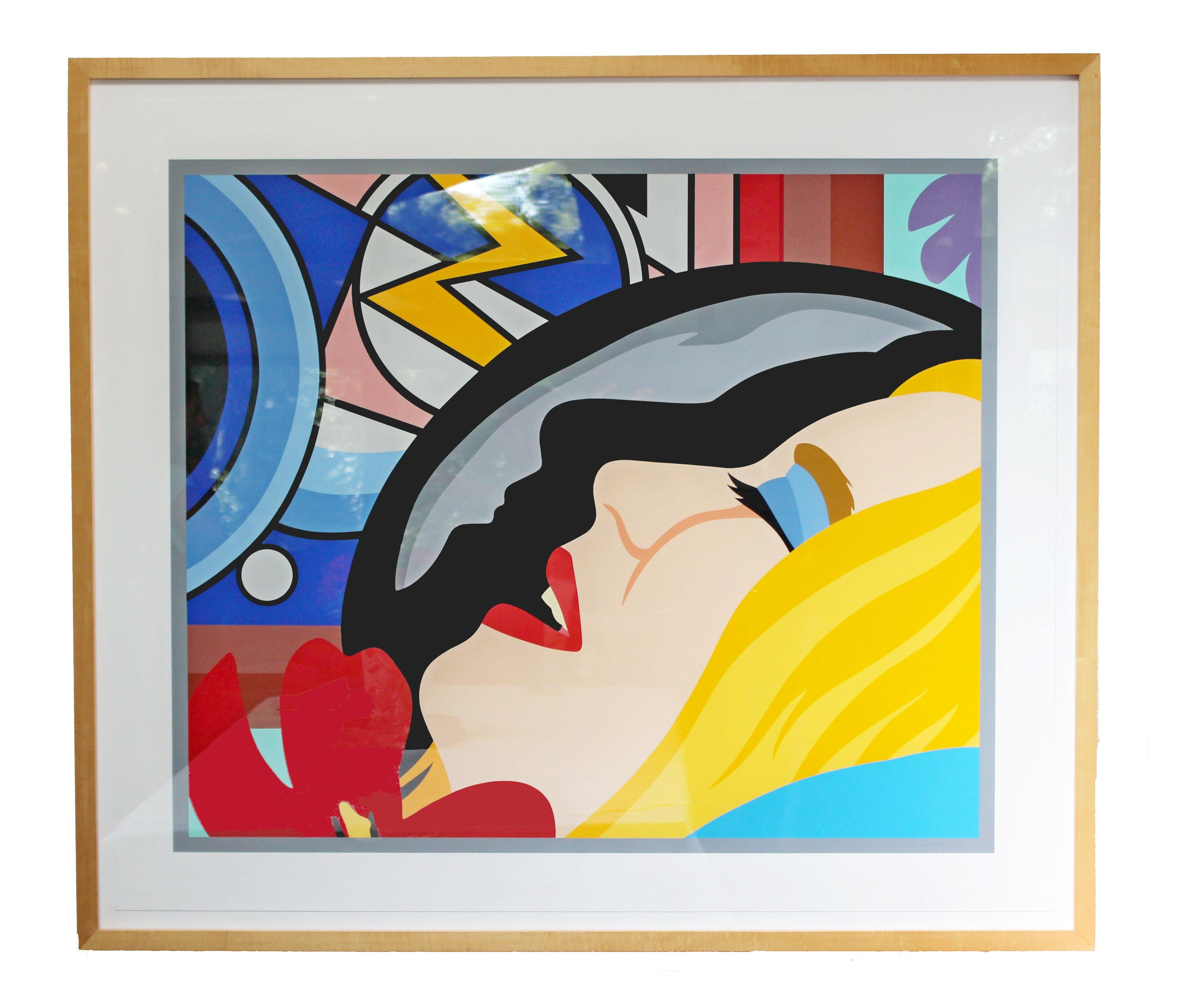 Bedroom Face with Lichtenstein Signed Tom Wesselmann Numbered 5/65, 1997