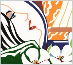 Bedroom Face with Orange Wallpaper (Large Format Color Serigraph) 1987