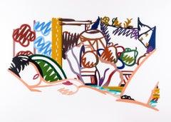 Monica Nude with Cezanne, Tom Wesselmann